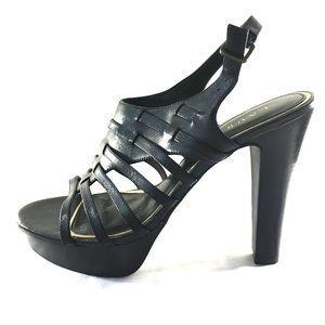 Ralph Lauren black high heel sandals